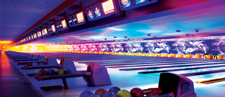 Cosmic Bowling at Strike Zone at Sunset Station